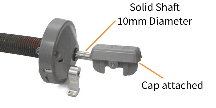 Dometic 8500 Awnings - Solid Roller Shaft & Attached Cap