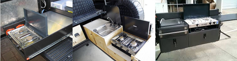 Lido Junior installed in camper trailer slide-out kitchen