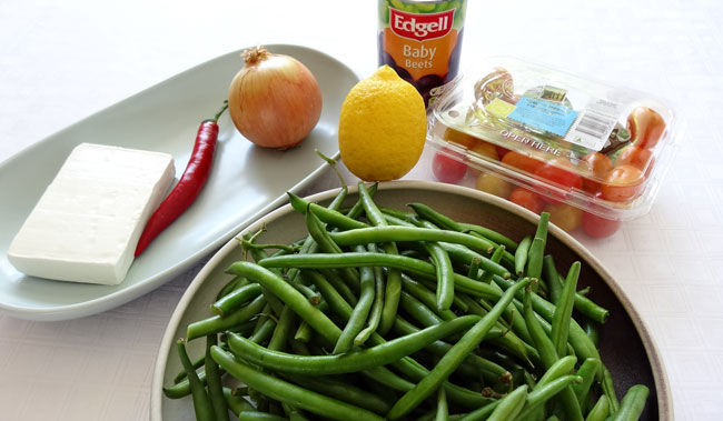 Green Bean, Beetroot & Goat Cheese Salad - Ingredients