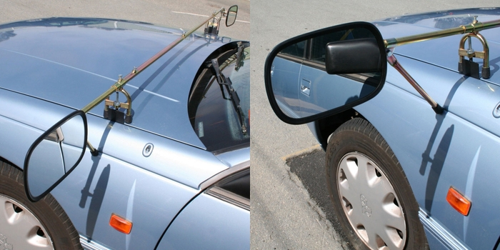 Bonnet Mounted Towing Mirrors