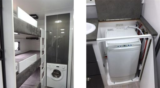 Caravan Washing Machines Installed Permanently