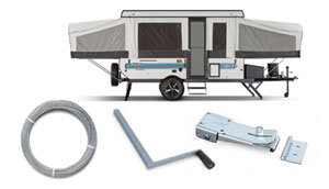 CaravansPlus | Telescopic Tubular Camper Lifter, 3 Stage, No