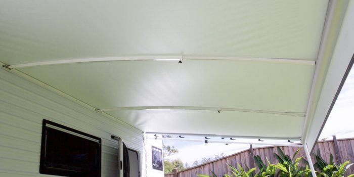 Example of Awning Roof Rafters Installed