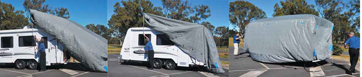 How to fit a Caravan Cover