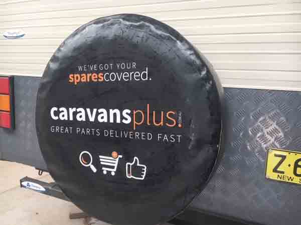 This standard wheel cover hides one spare plus a magic second spare