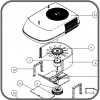 Fan Motor For Low Profile Coleman Polar Mach Air Cond. 1468-3329