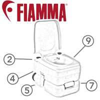 Spare Parts Diagram - Fiamma Bi-Pot 30 - Portable Toilet