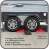 Split level ramp to fit between tandem wheels