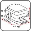 Fiamma Bi-Pot 30 toilet Dimensions