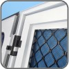 Amplimesh security grill door with flyscreen