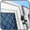 Amplimesh security grille door with flyscreen