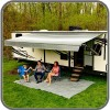 Carefree Altitude 12V Awning 15ft w LEDs - Silverfade - Fabric on Roll (No Arms)