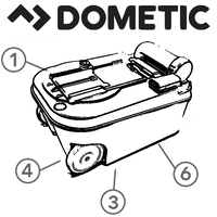 Spare Parts Diagram - Dometic Saneo Cassette Toilet - Holding Tank