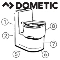 Spare Parts Diagram - Dometic Saneo Cassette Toilet
