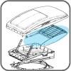 10-20204: Rain Shield Assembly - Suit MaxxFan Deluxe Vents