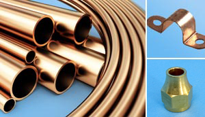 Show Copper Pipe Components