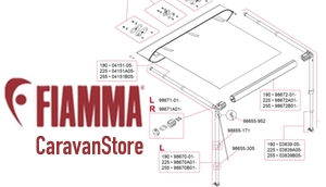 Show Fiamma CaravanStore Awning Diagrams
