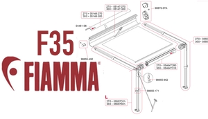 Show Fiamma F35 Awning Diagrams