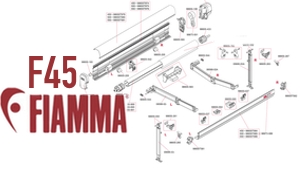 Show Fiamma F45 Awning Diagrams