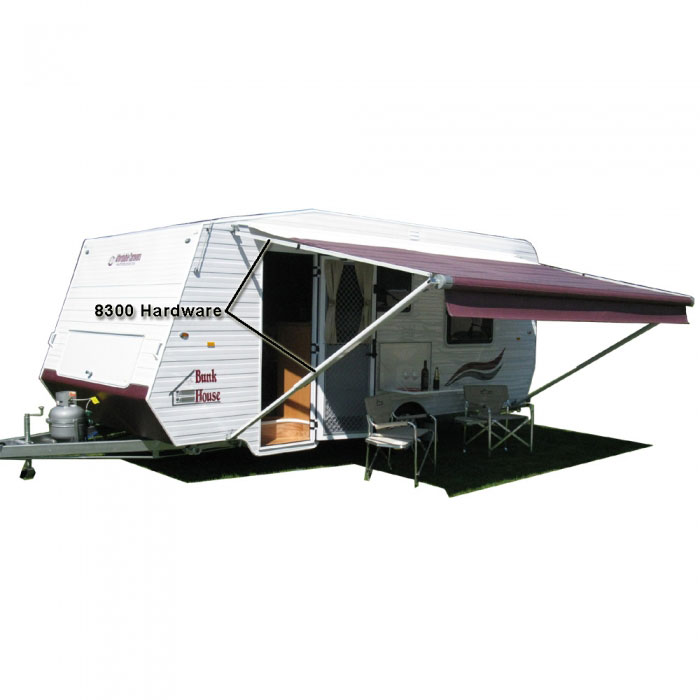 DOMETIC: 8300 Sunchaser awning, 14ft, blue, Fabric on Roll ...