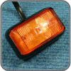 LED Amber light, 58mm x 35mm, 12V/24V, 2 x LED