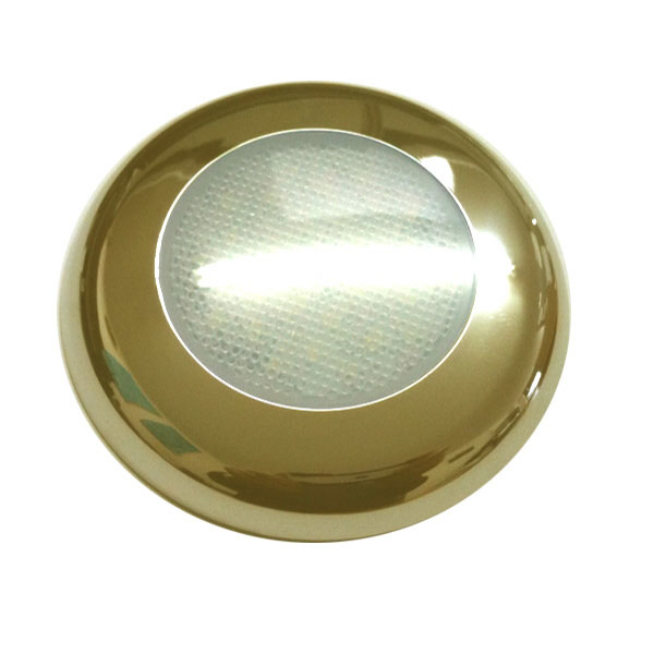 24V LED Mini Down Lights, 100 Lumens, Brass, 83mm