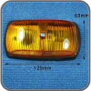 NARVA 85780BL 12V Side Indicator Light, Amber 125 x 65mm