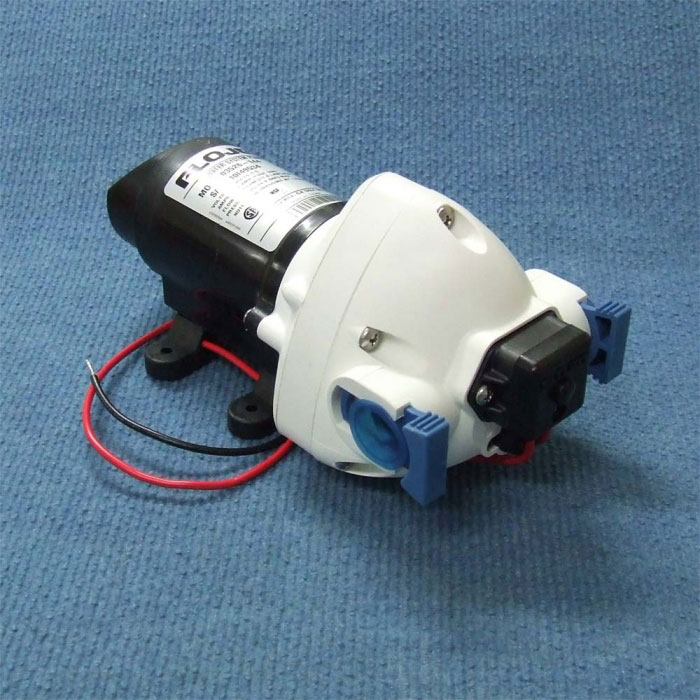 FLOJET: Triplex - 12V Fresh Water Auto Pump - 11 LPM / 50 PSI.  QUAD & 12mm Push-in