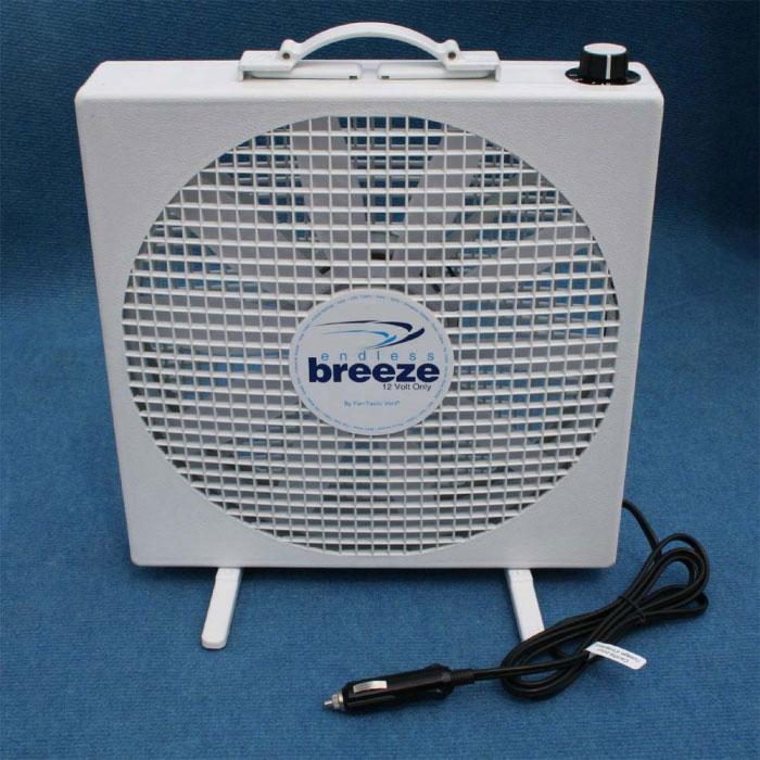 Fantastic endless breeze 12v fan 356 x 356 x 102mm for 12 volt window fan
