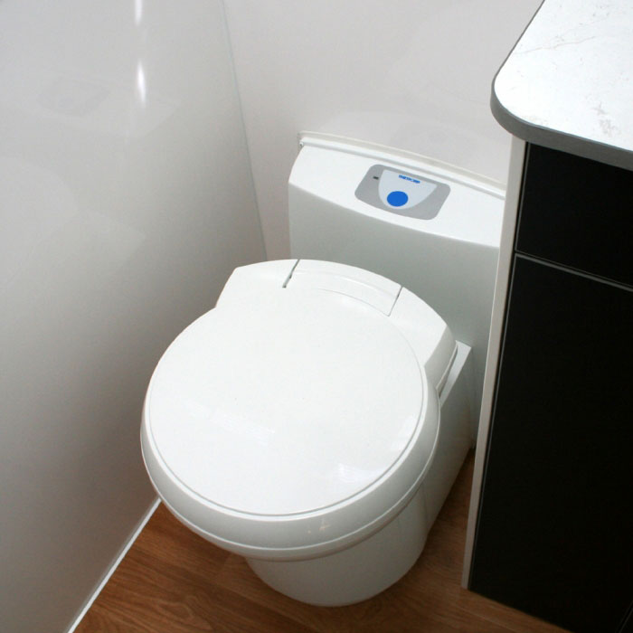 Thetford C263 Ceramic bowl Cassette Toilet. Example Of Fitting