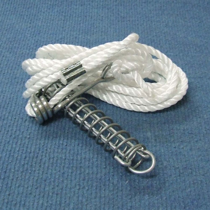 Single Guy Rope 6mm x 2.6m, Spring, Metal Slide.