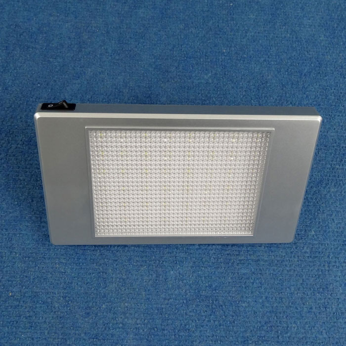 12V LED Surface Mount with Switch, 252 Lumens, Silver, 185x110mm