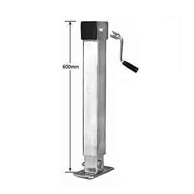 Side Winding Adjustable Stand, removable handle, 600mm-1200mm, 1500kg