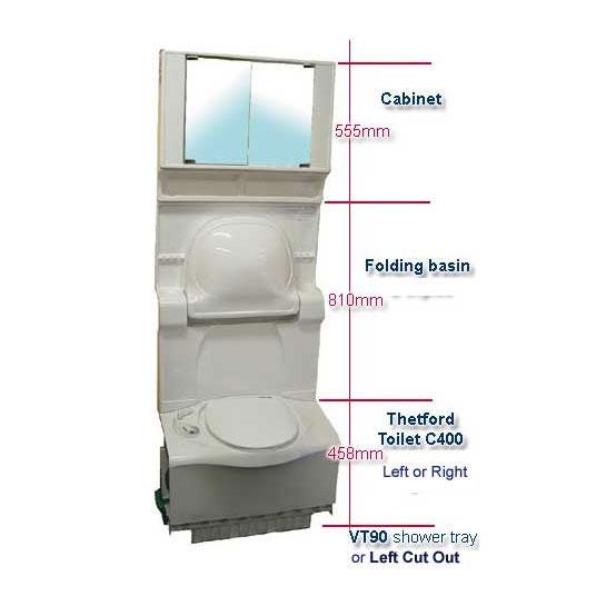 Caravansplus 670mm Wide Possible Bathroom Layout