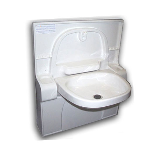 Bathroom folding basin 810mm high flat base caravan bathroom