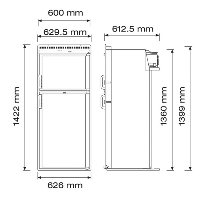 Emejing Apartment Size Refrigerator Dimensions Gallery ...
