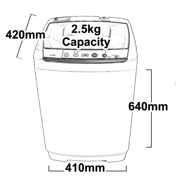 washing machine dimensions standard