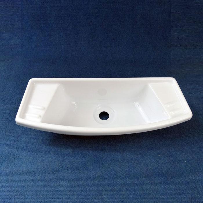 Basin Narrow, Acrylic, 495 x 190mm, WHITE Caravan Bathroom ...