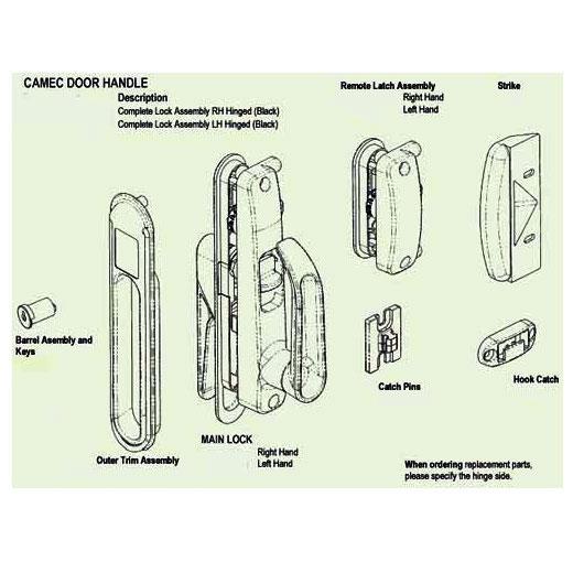Spare Parts Diagram - Camec Lock  sc 1 st  CaravansPlus & CaravansPlus: Spare Parts Diagram - Camec Lock | Locks u0026 Catches | RV