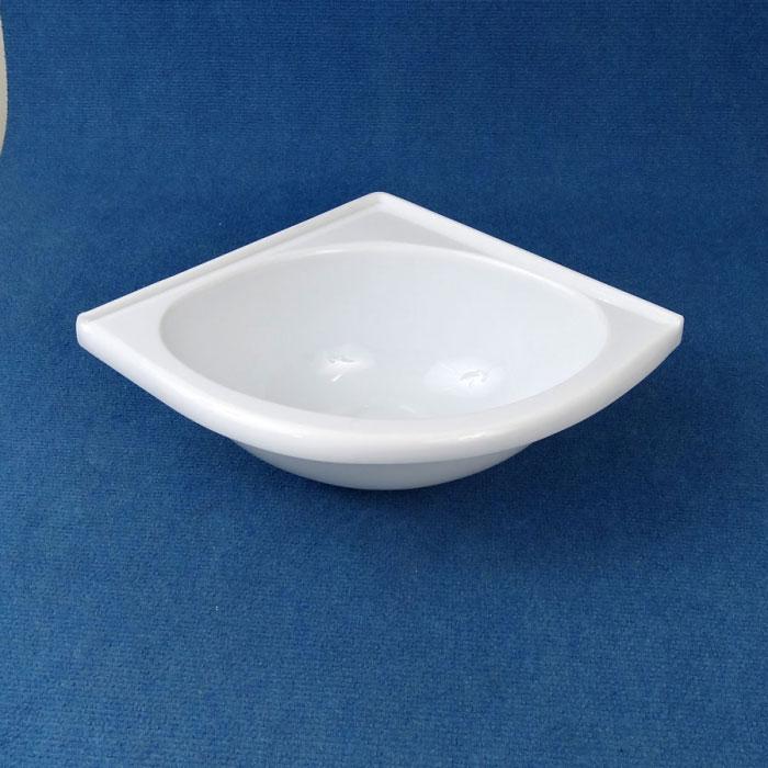 Corner Basin Sink : Basin Corner, Acrylic, 279 x 279mm, WHITE .