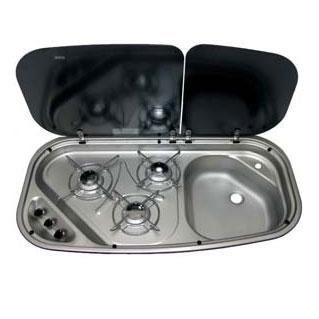 Exceptionnel CRAMER Combi   3 Burner Stove U0026 Sink Combo   Mixer Tap. 840w 440d