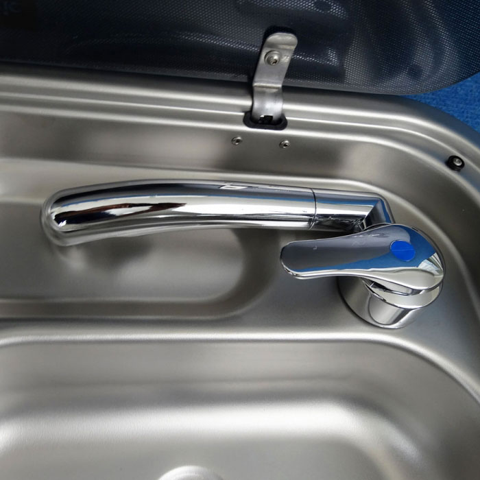 Perfect Caravan RV Camper Metal Folding HOT Cold Water Mixer TAP LOW Line
