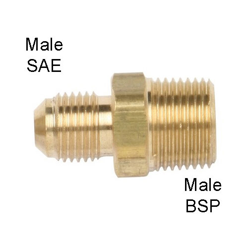Gas TF7 Single Union, m-SAE-5/16 To m-BSP-3/8