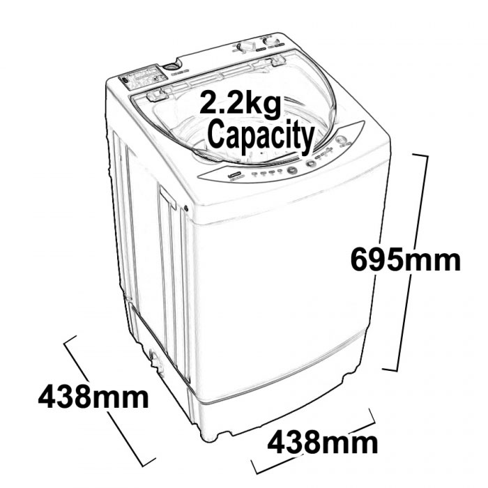 dimensions of a washing machine