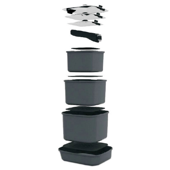 Caravansplus Smartspace Cookware Set Of 3 Stacking