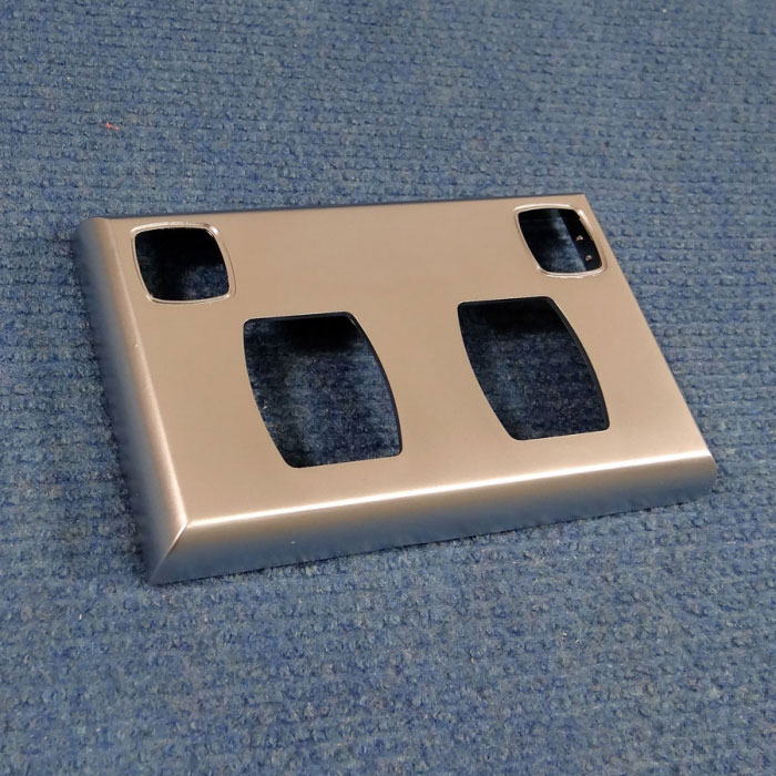 Double Power Point Cover Plate - Satin Chrome - Transco