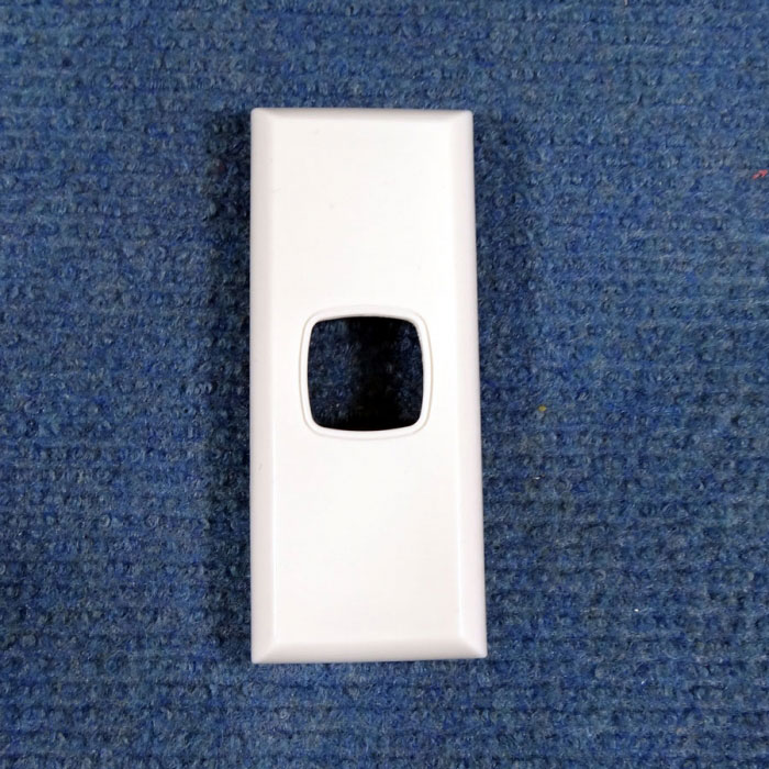 AS1: Architrave Switch Body and Cover, Single, White, Transco