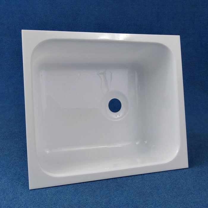 Acrylic Sink : White Acrylic Sink, 335mm x 285mm