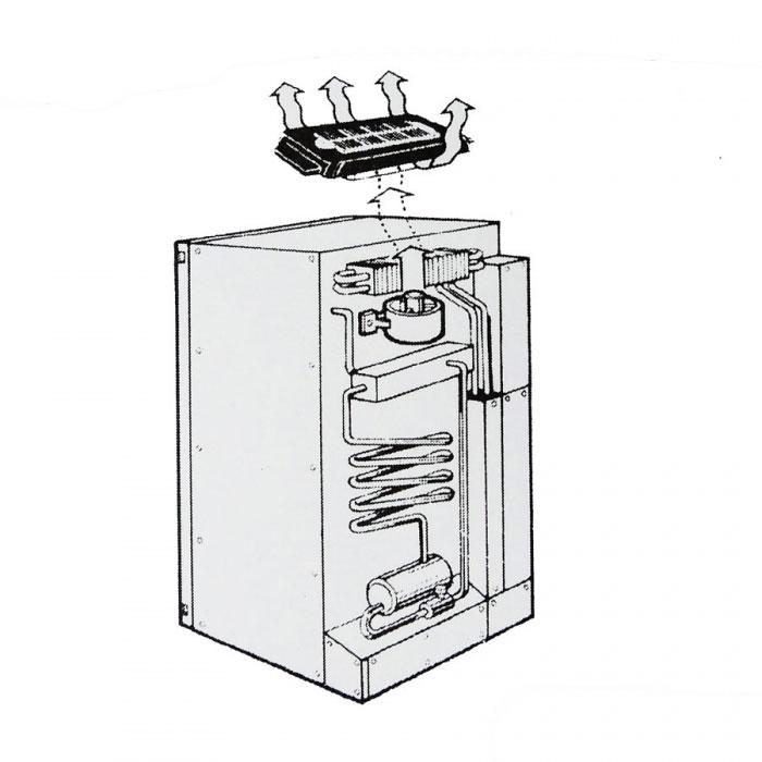 Caravansplus Solar Powered Fridge Fan With Panel Fridge