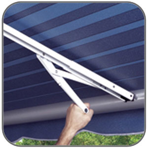 Caravansplus Carefree Centre Rafter With Ground Support